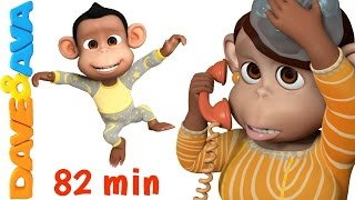 Five Little Monkeys Jumping on the Bed | Nursery Rhymes Collection from Dave and Ava