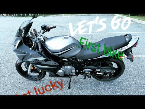 Suzuki gs500f. My first bike review