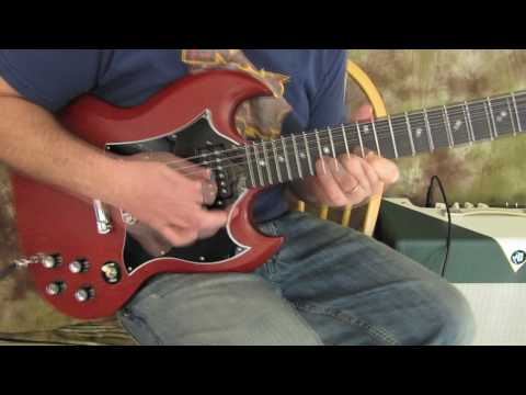 Rock And Blues Electric Guitar Solo Lesson - Blues Rock Lick On Gibson SG