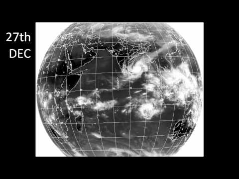 Cyclone Thane: Timelapse of Satellite Weather Images