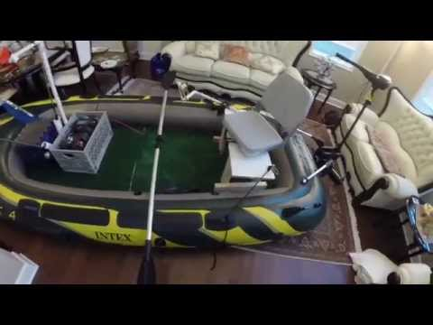 Intex Seahawk 4   fishing boat modifications