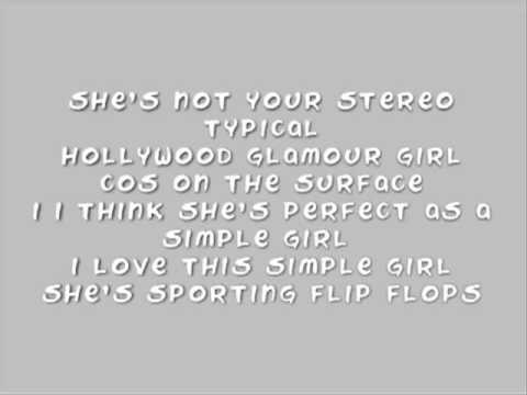 Avenue 52 - Simple Girl Lyrics video