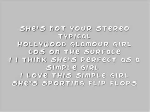Avenue 52 - Simple Girl Lyrics video