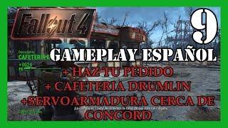 FALLOUT 4 +CAFETERIA DRUMLIN +HAZ TU PEDIDO +SERVOARMADURA CERCA DE CONCORD!! GAMEPLAY ESPAÑOL 9