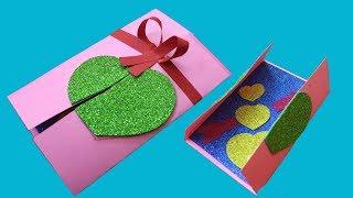 Handmade Valentine Cards   DIY Valentine Card   Easy Card Making Tutorials