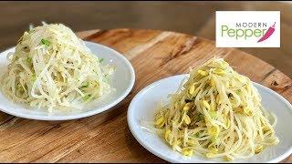 SoyBean & Myung Bean Sprout Side Dish (KongNaMul & SukJuNaMul-MuChim 콩나물-숙주나물무침) Modern Pepper #22