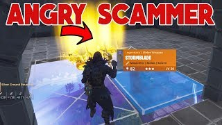 ANGRY SCAMMER SCAMMED HIMSELF (Scammer Gets Scammed) Fortnite Save The World