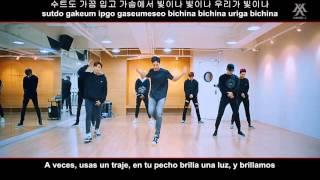 MONSTA X HERO Dance practice Fix ver Sub Espa ol Hangul Romanizado