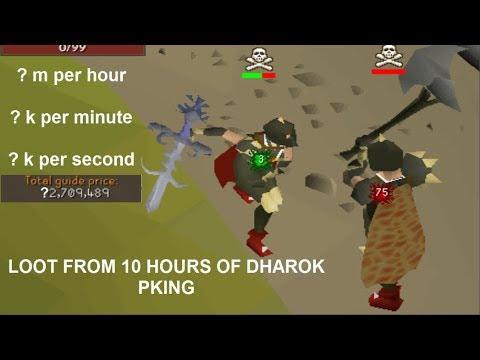 LOOT from 10 HOURS of DHAROK PKING - Oldschool Runescape