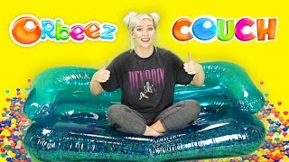 DIY ORBEEZ COUCH! SO COMFORTABLE! SUMMER FUN!