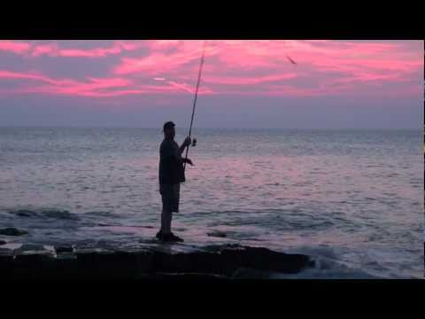 Blue fish Fishing night & dawn with Bluefish hitting lures off rocks Rockport  MA 12-15 pound fish