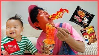 뽀로로 짜장면 불닭볶음면 소스 준다면? 주방놀이 요리놀이 장난감 놀이 인기동요 Pororo Noodle pretend play with kids toys | 말이야와아이들