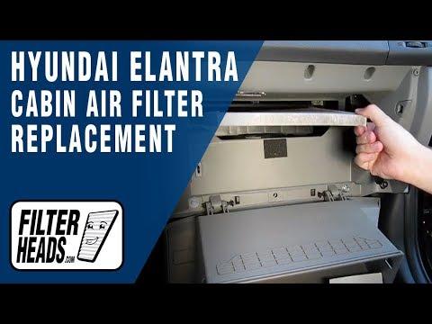 Cabin Air Filter Replacement Hyundai Elantra Youtube