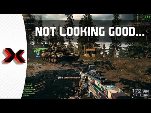 Not looking Good - Battlefield 4 LMG and C4 gameplay