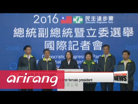 Taiwan election: Tsai Ing-wen elected first female president