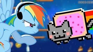 Rainbow Dash plays Nyan Cat: Lost in Space 🍉   RainNO.