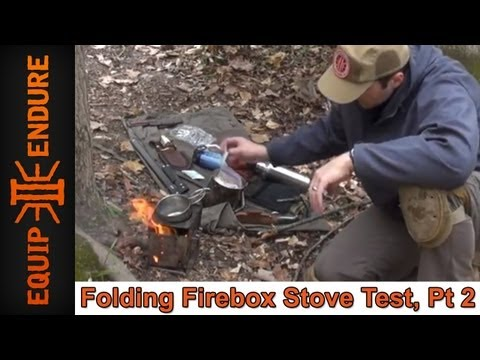 Folding Firebox Stove. Test Part 2 by Equip 2 Endure
