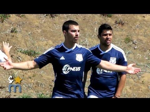 Jonas Brothers Charity Soccer Game - AC United vs Bilbo Real (Nick Jonas, Olivia Culpo)