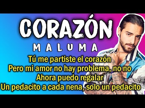 Maluma - Corazón (Letra)