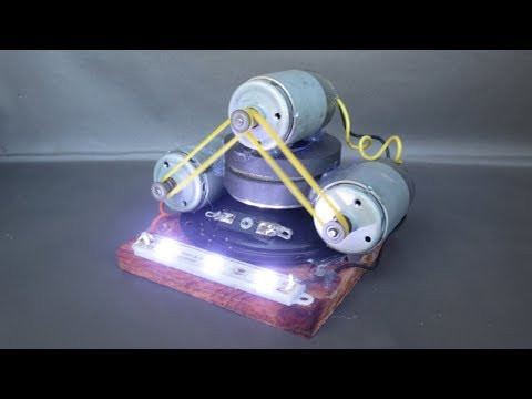 Free energy generator electricity with light bulbs - Homemade science projects DIY 2018 thumbnail