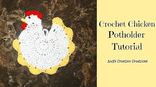 Crochet Chicken Potholder Tutorial