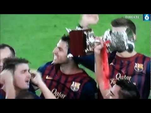 FCB - RMD SUPERCOPA 2011: MESSI FINAL MATCH GOAL & CUP CELEBRATION