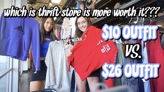 $10 outfit vs. $26 outfit : WHICH THRIFT STORE IS WORTH IT?