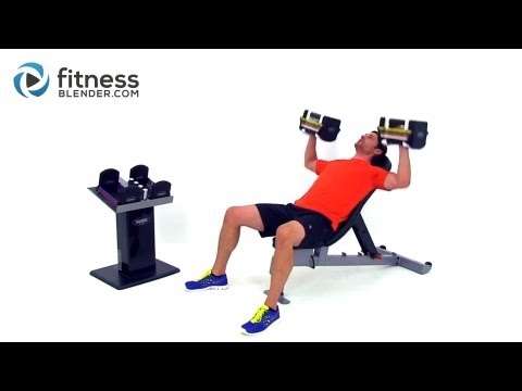 Chest and Back Superset Workout - At Home Dumbbell Workout for Strength and Size