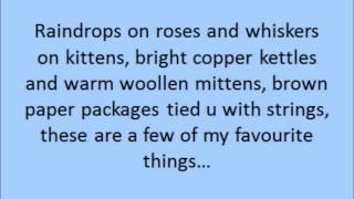 My Favourite Things - karaoke w/lyrics