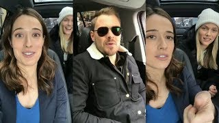 Marina Squerciati with Patrick Flueger and Tracy S.   Instagram Live Stream   February 28 2018