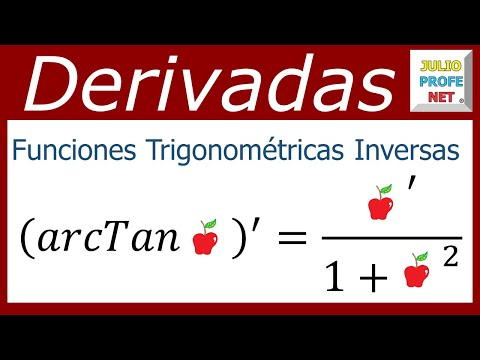 Derivadas de las funciones trigonométricas inversas - Derivatives of inverse trigonometric functions