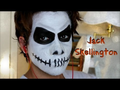 Jack From Nightmare Before Christmas Face Paint