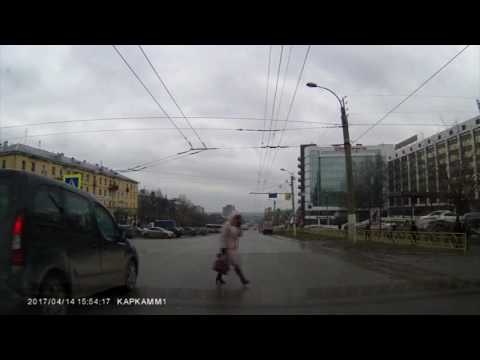Видеорегистратор. Отпало колесо на Форде. Место происшествия 17.04.2017