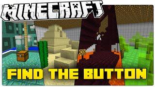 Minecraft | One Secret Button... Ten Strange Worlds | Button Bopper (Find The Button Map)