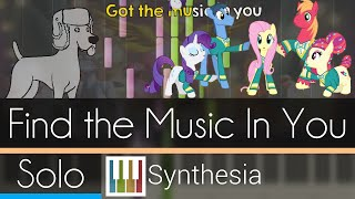 Find the Music In You - |SOLO PIANO TUTORIAL w/LYRICS| -- Synthesia HD