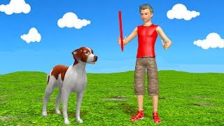 Dog & Color Stick Cartoon for Kids - Learn Colors & Animals for Children
