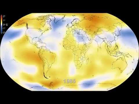 Six Decades of a Warming Earth according to NASA