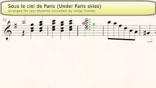 Sous Le Ciel De Paris Under Paris Skies Sotto Il Cielo Di Parigi Jazz Accordion Sheet Music