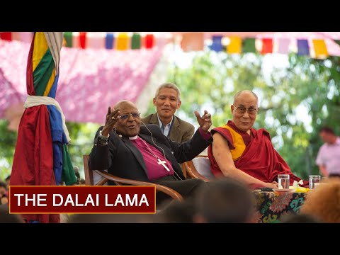 The Dalai Lama and Archbishop Tutu Interact with TCV Students