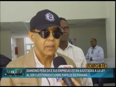 Diandino Peña dice sus empresas están ajustadas a la ley al ser cuestionado sobre Papeles de Panamá