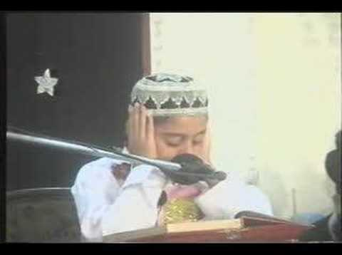 WORLD BEST CHILD QURAN RECITATION  Shk Qari M Ayyub Asif 11 yrs old