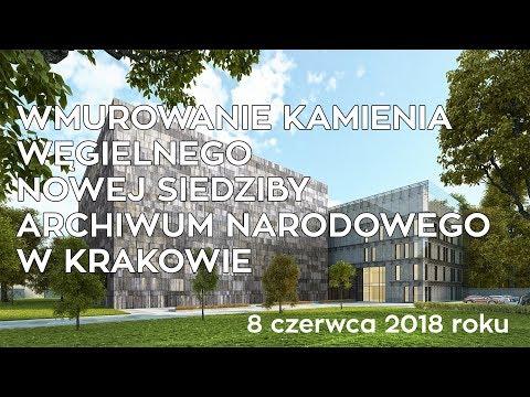 Wmurowanie Kamienia Węgielnego Nowej Siedziby Archiwum Narodowego W Krakowie