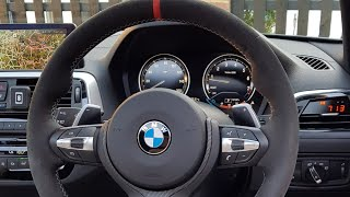 BMW M140i P3 Gauge at Motech Performance on Route to Petrolhead Tours Scotland
