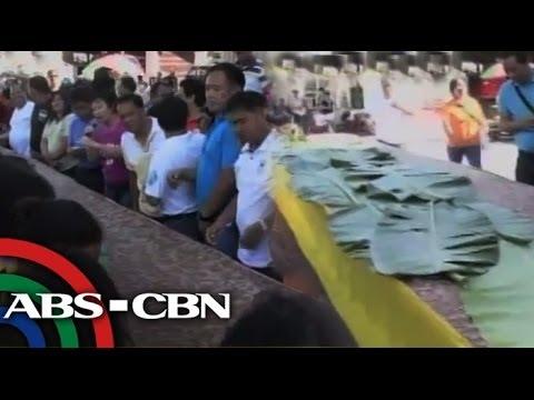 Giant kakanin star of Pangasinan festival