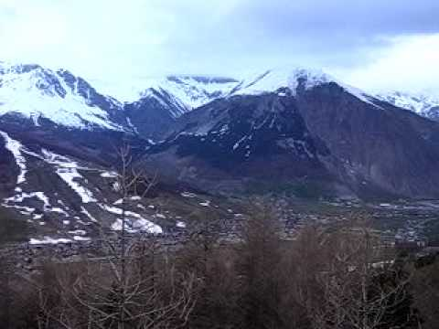 Livigno at the sunset