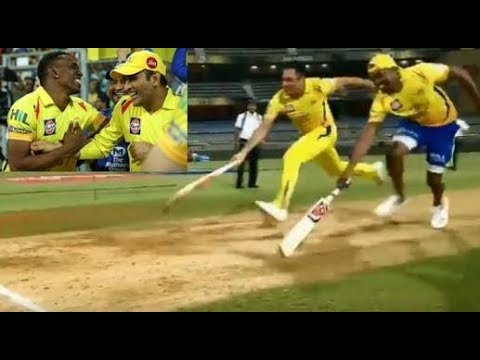 Dhoni vs Bravo three run challenge after wining the ipl final match