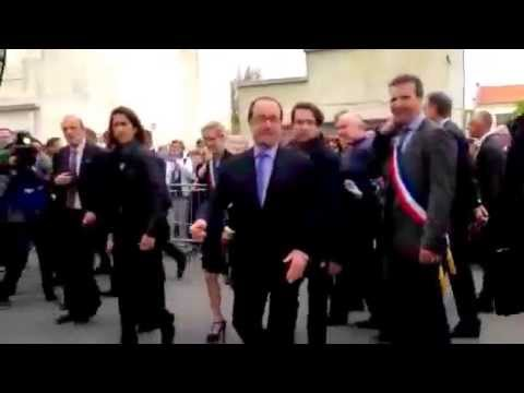 Le bisou de François Hollande à Fouras le 18 avril 2015