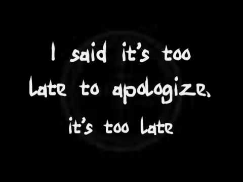 Timbaland - Apologize Ft. Onerepublic  (lyrics) video