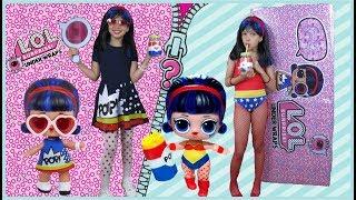 LOL HUMANA | ABRINDO LOL UNDER WRAPS (LOL Cápsula) | Dolls In Real Life |BONECA GIGANTE DE VERDADE