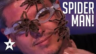 SPIDERMAN Freaks Out Judges In World Record Attempt On Americas Got Talent!